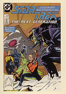Star Trek TNG Quotable TNG The Comic Books Chase Card CB2