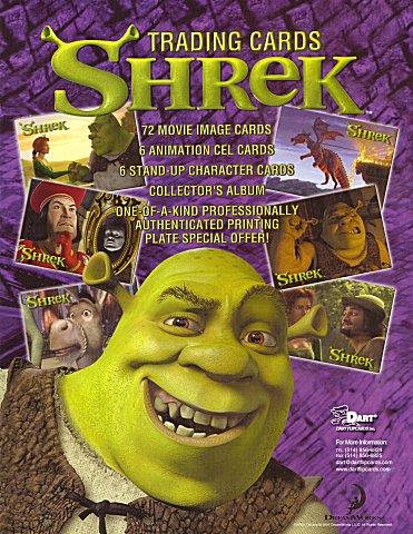 Shrek Season 1 Advertising Display Sell Sheet Uk Trading Cards
