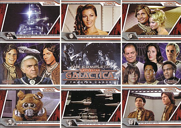 Battlestar Galactica Complete Full 72 Card Base Set of Trading Cards ~ New